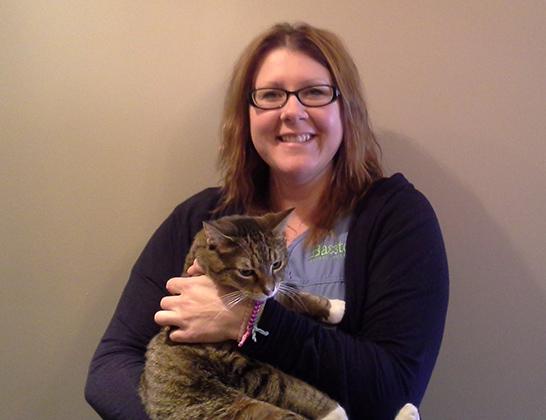 Rhonda Piche Ranta Senior Client Care Representative at Baxter Animal Hospital with cat